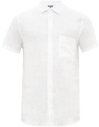 Frescobol Carioca Cutaway-collar Linen Shirt - Mens - White