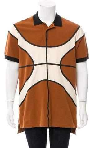 Givenchy Basketball Print Polo Shirt