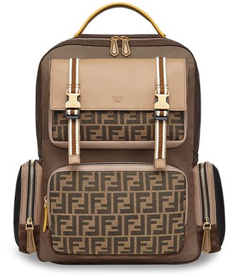 Fendi FF motif multi-pocket nylon backpack