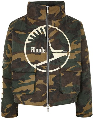 Rhude Camouflage-print quilted twill jacket