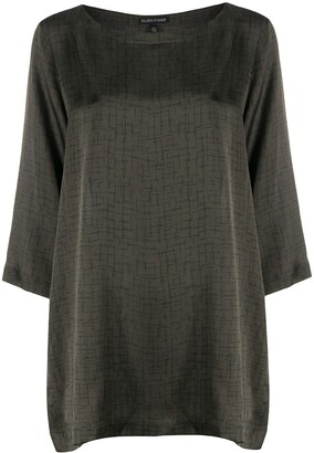 Eileen Fisher Printed Tunic Top
