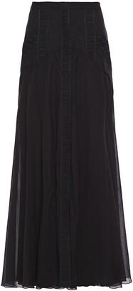 Charo Ruiz Ibiza Zuri Crocheted Lace-trimmed Cotton-blend Voile Maxi Skirt
