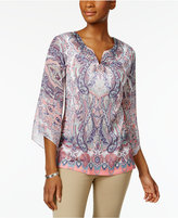 JM Collection Sublimated-Print Tunic, Only at Macy's