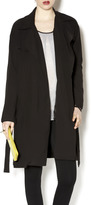 Solemio Black Trench Coat
