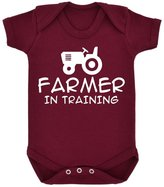 1StopShops Farmer In Training Baby Bodysuit with White Print