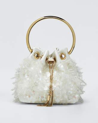 Jimmy Choo Sequin Satin Drops Top Handle Bag