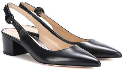 Gianvito Rossi Amee leather slingback pumps