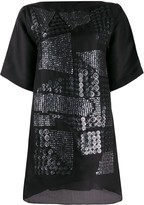 Missoni Pre Owned asymmetric sequin embroidery T-shirt dress