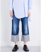 Loewe Turn-up Cuffs Straight-leg Cropped Jeans