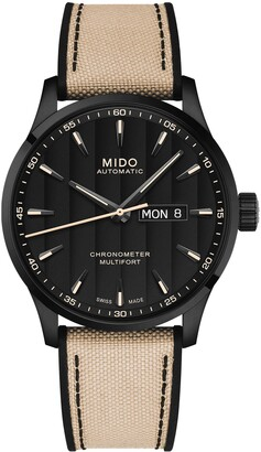 MIDO Multifort Automatic Canvas & Silicone Strap Watch, 42mm