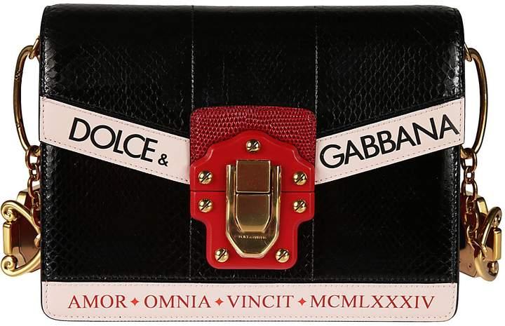Dolce & Gabbana Dolce Gabbana Embroidered Shoulder Bag