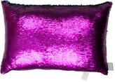 Aviva Stanoff Mermaid Sequin Purple Haze Throw Pillow