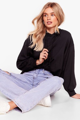 Nasty Gal Womens Settle Back Oversized Hoodie - Black