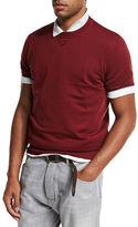Brunello Cucinelli Athletic Short-Sleeve Sweatshirt
