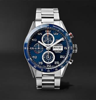 Tag Heuer Carrera Automatic Chronograph 43mm Polished-Steel Watch, Ref. No. Cv2a1v.ba0738