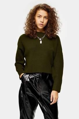Topshop PETITE Knitted Super Soft Crop Jumper