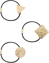 Yours Clothing 3 PACK Black & Gold Hairbands With Metal Shape Attachments