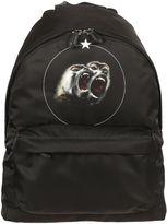 Givenchy Black Baboon Print Backpack