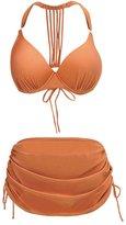 Perfashion Women's Tassel Bikini Set High Waisted Two Pieces Swimsuit Plus Size Swimwear for Women 4XL