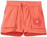 Little Marc Jacobs Embroidery Cabochons Shorts (Toddler/Kid) - Orange-10A