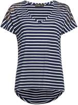Biba Striped studded shoulder t-shirt