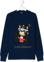 DSQUARED2 Teen dog print top