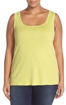 XCVI Plus Size Women's Basic Cotton Tank