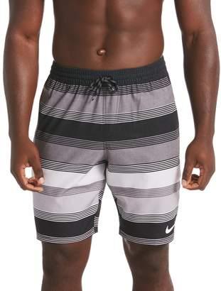 Nike Men's Racer Striped Volley Swim Trunks