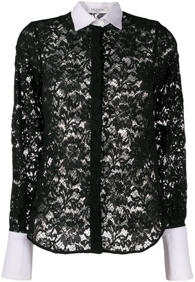 Valentino Pre-Owned 2000's Floral Lace Shirt