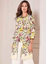 Kaleidoscope Floral Print Jacquard Dress Coat