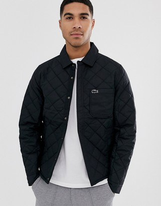 Lacoste quilted jacket-Black