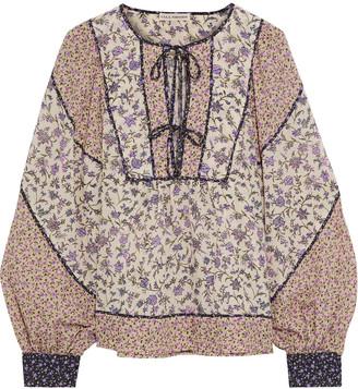 Ulla Johnson Colette Paneled Floral-print Cotton-blend Blouse