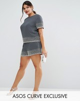 Asos Scatter Embellished Shorts Co-Ord