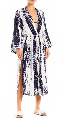 Elan International Tie Dye Long Sleeve Cover-Up