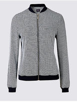 M&S Collection PETITE Checked Bomber Jacket