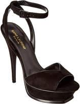 Saint Laurent Tribute 105 Ankle Strap Suede Sandal