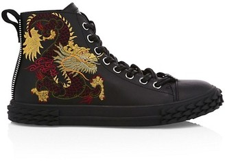 Giuseppe Zanotti Blabber Embroidered High-Top Sneakers