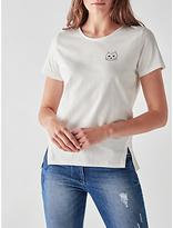 People Tree Mini Cat T-Shirt, White