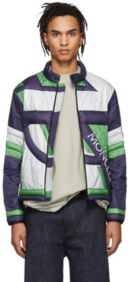 MONCLER GENIUS 5 Moncler Craig Green Navy and Green Down Traction Jacket