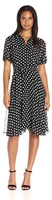 Amy Byer Women's Polka Shirt Dress