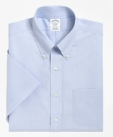 Brooks Brothers Regent Fitted Dress Shirt, Non-Iron Short-Sleeve