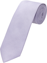 Oxford Silk Tie Chck Reg Purple X