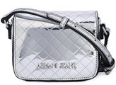 Armani Jeans quilted logo shoulder bag - women - Polyurethane - One Size