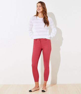 LOFT Double Button Skinny Ankle Pants