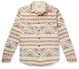 Faherty Durango Organic Brushed Cotton-Jacquard Shirt Jacket