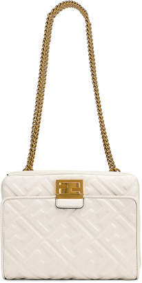 Fendi Upside Down Crossbody Bag in White | FWRD