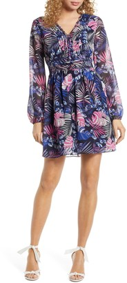 Sam Edelman Tropical Printed A-Line Dress