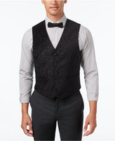 Ryan Seacrest Distinction Men's Slim-Fit Black Velvet Paisley Vest, Created for Macy's