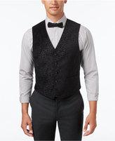 Ryan Seacrest Distinction Men's Slim-Fit Black Velvet Paisley Vest, Only at Macy's