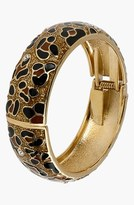 Betsey Johnson Leopard Pattern Hinged Bangle